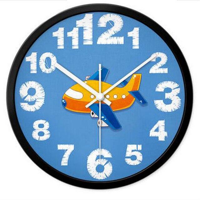 Big Cartoon Watch Wall Clock Modern Design Mural Living