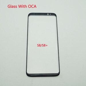Image 1 - 5 Cái/lốc LCD Trước Màn Hình Cảm Ứng Kính Cường Lực Với OCA Dính Dành Cho Samsung Galaxy Samsung Galaxy S8 G950 / S8 + S8 plus G955 Kính Bên Ngoài + OCA Phim