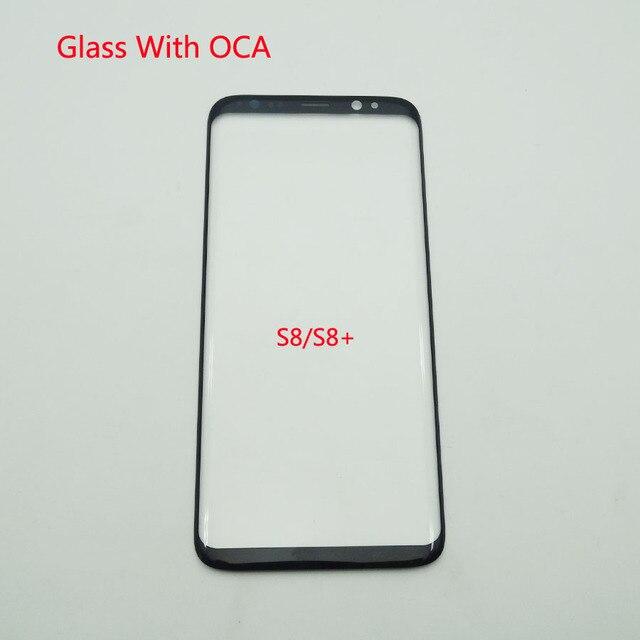 5 Cái/lốc LCD Trước Màn Hình Cảm Ứng Kính Cường Lực Với OCA Dính Dành Cho Samsung Galaxy Samsung Galaxy S8 G950 / S8 + S8 plus G955 Kính Bên Ngoài + OCA Phim