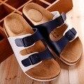 Hombres Estilo Doble piel Zapatillas de Playa Sandalias de Corcho Zapatillas Hombres Verano Nueva marea masculina zapatillas de corcho