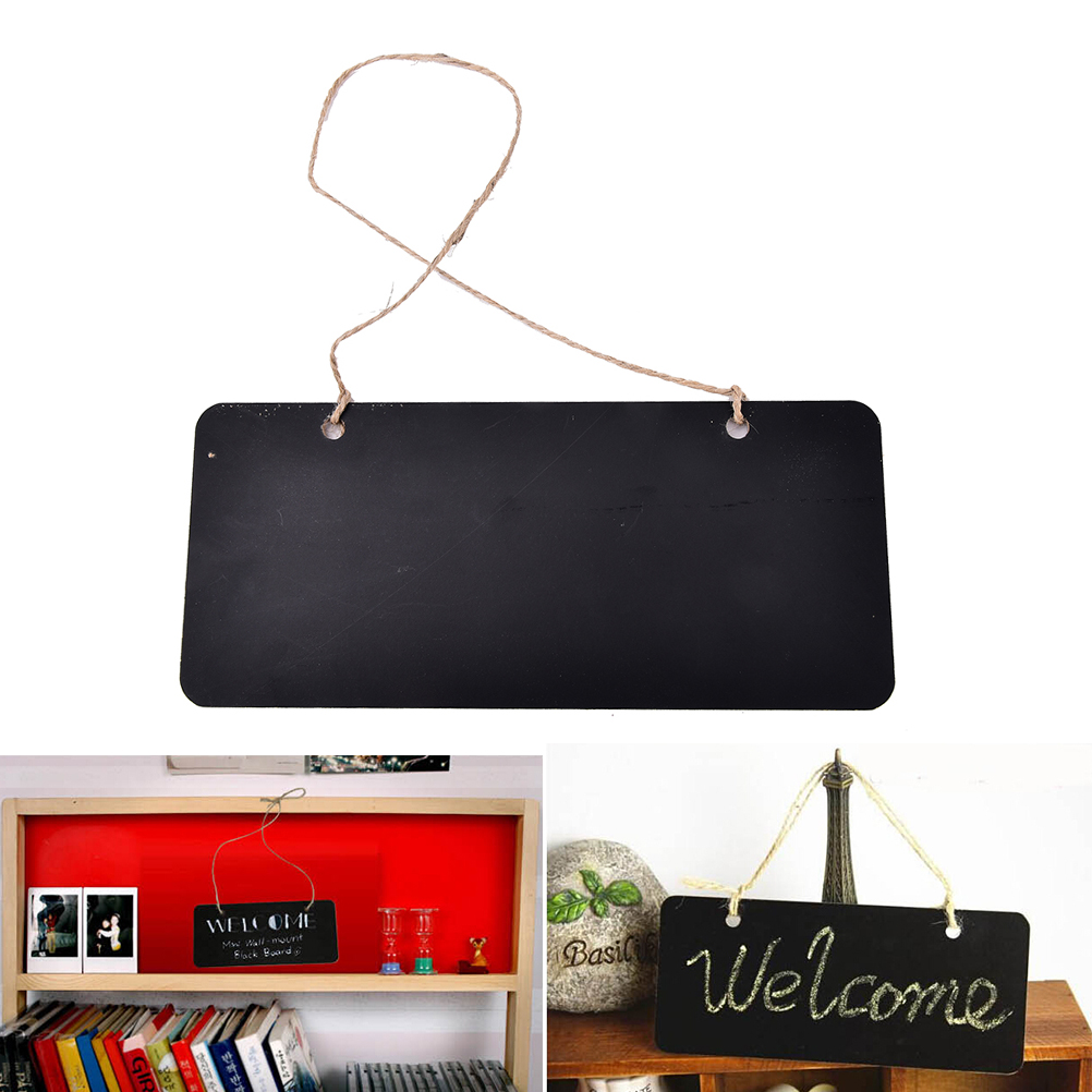 Mini Wooden Blackboard Chalkboard Message Sign With Hang String School Party Decoration Supplies