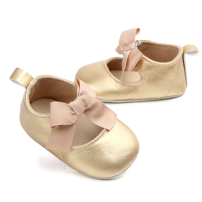 New Baby Girls Shoes PU Mary Jane Walker Shoes For Little Princess Spring Summer Autumn Wedding Bowties Infants Leather Shoes