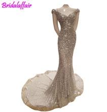 100% Reale Foto Luxury Sirena Abito Da Sera Sexy Bling Cristalli Paillettes Lungo Vestito Partito Robe De mermaid prom dress