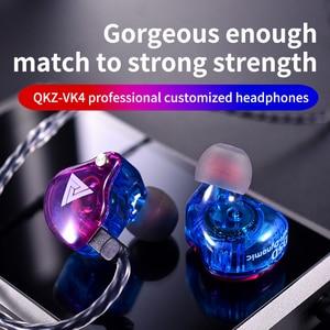 Image 3 - Più nuovo QKZ VK4 ZST heavy bass wired cuffia auricolare HiFi auricolare ferro musica di controllo del movimento di scambio cavo Bluetooth