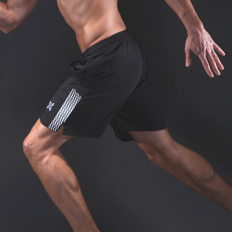 Mens Workout Shorts with Pockets Fitness Gym Running Underwear Plain Breathable