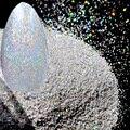 Голографический Серебряный Малый Nail Art Блеск Искра 1/256 0.1 мм Лазерная Серебро Мелкой Пыли Порошок N101
