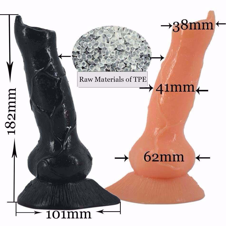 FAAK simulation skin animal giant root dog wolf best selling huge super thick super long anal plug penis in Dildos from Beauty Health