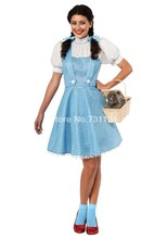 Rubie's Costume Wizard Of Oz Adult Dorothy Cotton Bow Sweet Lolita Dress/Maid Cosplay Lolita Dress Costumes