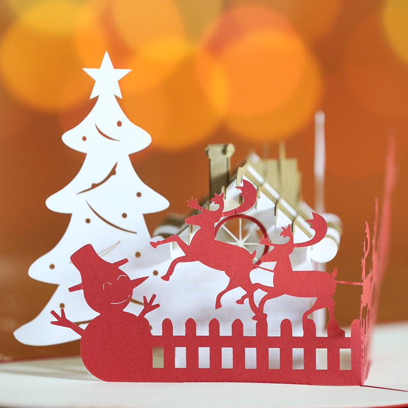 Aliexpress.com : Buy Personalized 3D Popup Christmas Gift Greeting ...