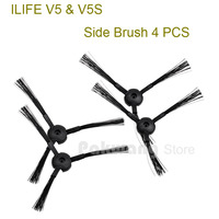 Original ILIFE V5 V5S Robot Vacuum Cleaner Side Brush 4 Pcs