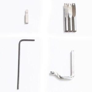 Image 5 - 5 в 1 профессиональный набор для прессования краев и кожевенного ремесла Регулируемый инструмент для сшивания и углубления кожевенного шва инструменты для шитья аксессуары