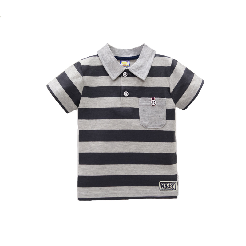 2017-New-arrival-polo-t-shirt-baby-short-striped-for-boys-tops-pure-cotton-children-summer-clothing-Girls-Tee-2