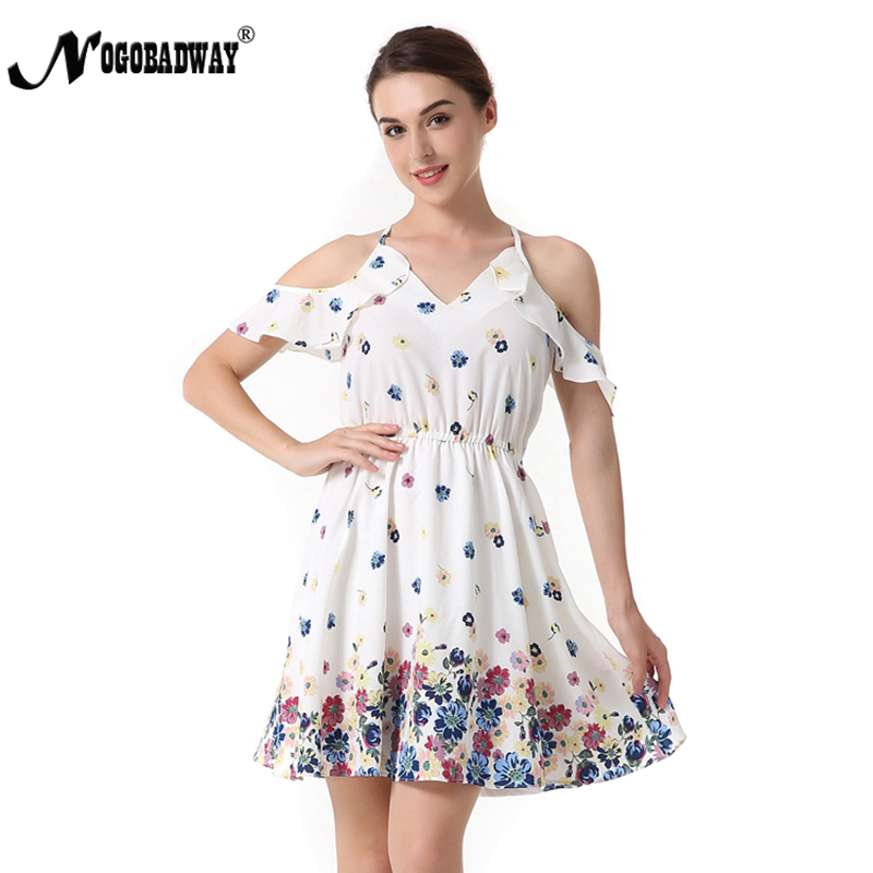 ddd54c051ba98 US $14.24 27% OFF|Floral Print V neck Short Dress Women Summer Bohemian  Beach Dress A line Boho White Robe Femme Sundress Casual Boho Dress 2018-in  ...