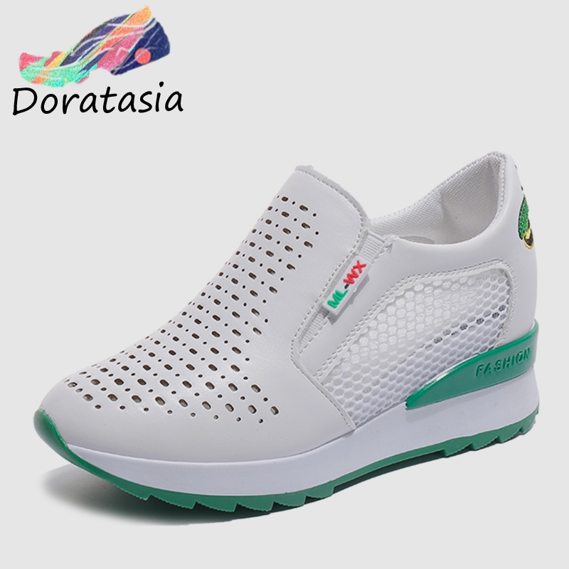 Air Nero Fashion Sneakers Casual Confortevole On 2019 Style Scarpe Flats Mocassini White Verde Ins Rosso Donna Mesh Slip Casual Doratasia qgXT1x6ww