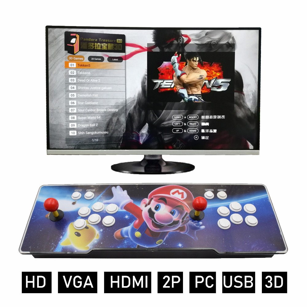 2019 Hot Sale 2200 in 1 Tresure 3D TV jamma arcade game console with PC Board game machine support VGA HDMI USB output