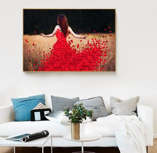 Nordic Style Canvas Prints Wall Art Painting Picture Pretty Girl Dancing Listing Home Decor Poster