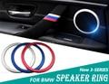 Двери автомобиля Спикер Кольцо Накладка Наклейки Украшения Автомобиля Аксессуары для BMW 3 СЕРИИ F30 F34 320 328 320li 316 автомобиль для укладки