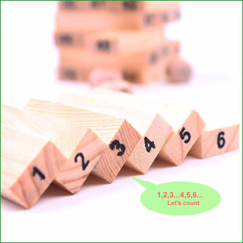 Mini Tumbling Stacking Tower Digital Wooden Puzzles - Ойындар мен басқатырғыштар - фото 2