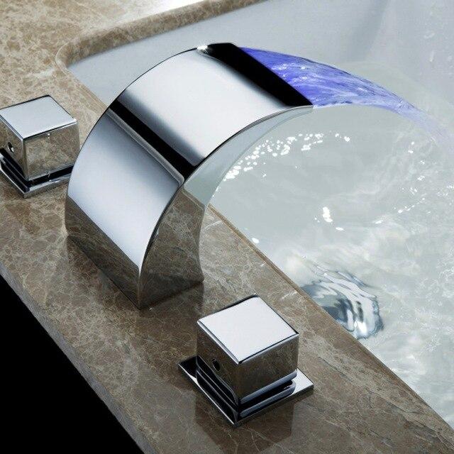 Temperatur Gesteuert Wasserhahn Wasserhahn Badezimmer Wasserfall ...