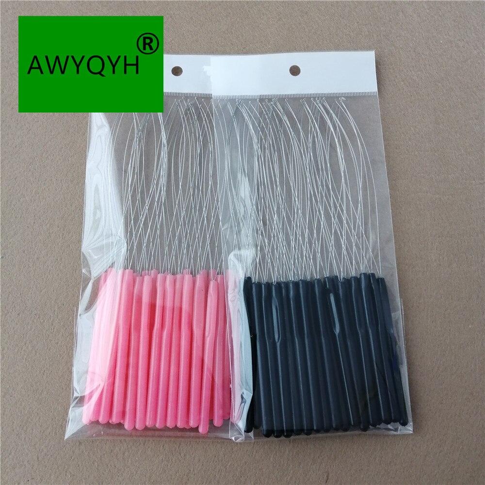 Пластиковое Удлинительное Кольцо для волос, ЭЗ Тянущая петля для нити, микро-кольцо, инструменты для наращивания волос