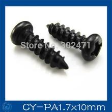 HOT SALE!! 300pcs/ cctv  Camera screws, Round head PA1.7 * 10mm