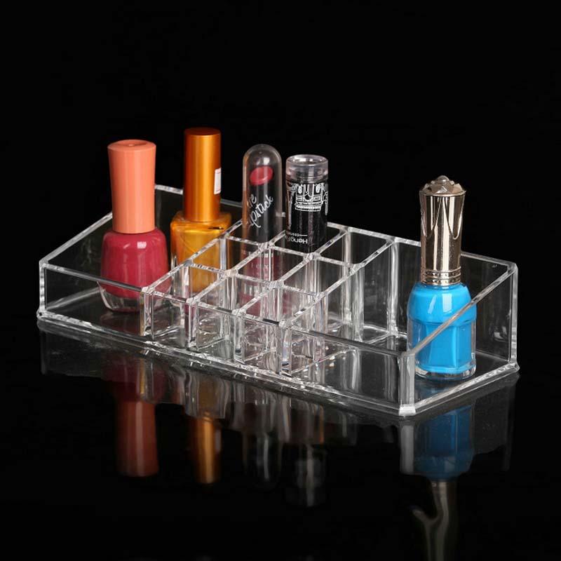 makeup organizer lipstick cosmetics boite de rangement makeup vernis a ongle organizador de