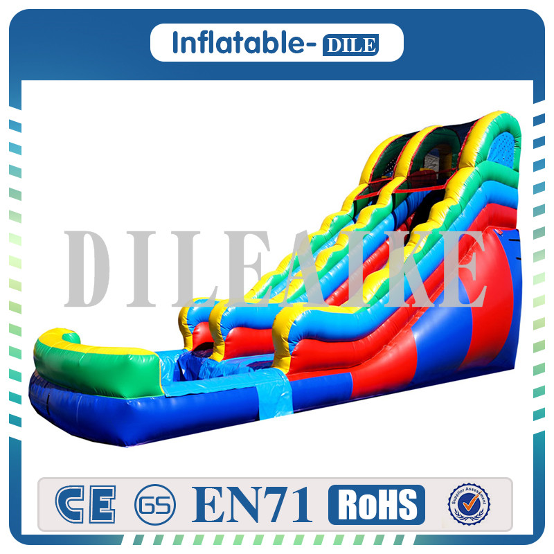 Free Shipping New Product 7x3.5x5m Big Giant Inflatable Water Slide With Pool Safely For Sale