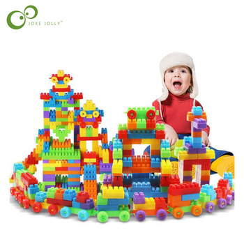 104Pcs/bag Children large particles plastic building  baby kindergarten early education DIY assembled  WYQ