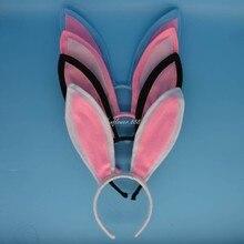Women Girl Long Bunny Rabbit Ears Headband Headwear Hair Accessories Wedding Party Favors Halloween