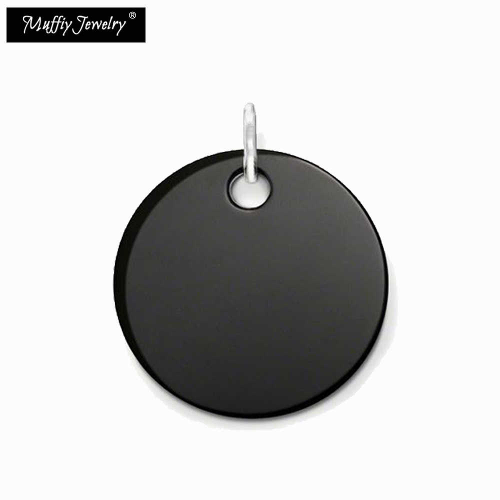 Onyx Disc Hanger, Thomas Style Glam Fashion Goede Jewerly Voor Vrouwen, 2017 Ts Gift In 925 Sterling Zilver, Super Deals