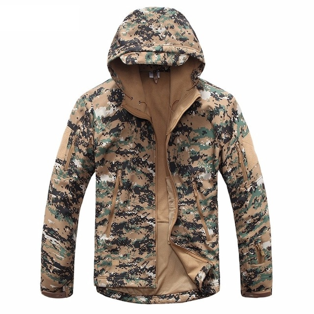 00a8c60666152 New Digital Camouflage Tactical Gear Military Army Jacket Men Softshell  Waterproof Hunter Clothes Winter Casual Jackets