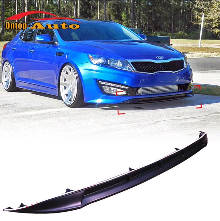 Matte Black Front Bumper Skit Trim Wing Spoiler Cover Lip For Kia K5 Optima K5 SX 2011-2013 купить