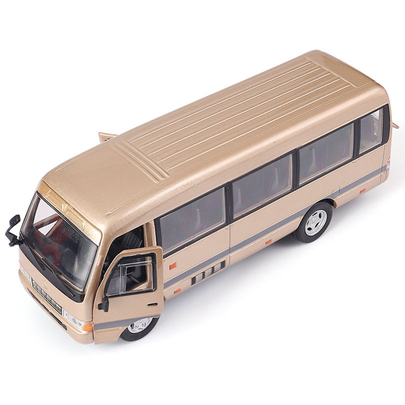 1/32 COASTER Medium-Sized Bus Simulation Toy Passenger Car Model Alloy Pull Back Children Toys Genuine License Collection Gift