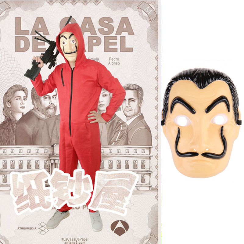 Company gathering Costume Salvador Dali Cosplay Movie Mask Money Heist The House of Paper La Casa De Papel Cosplay