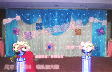 Luxury Mediterranean Wedding Backdrop with Beatiful Swag Wedding drape and curtain wedding decoration