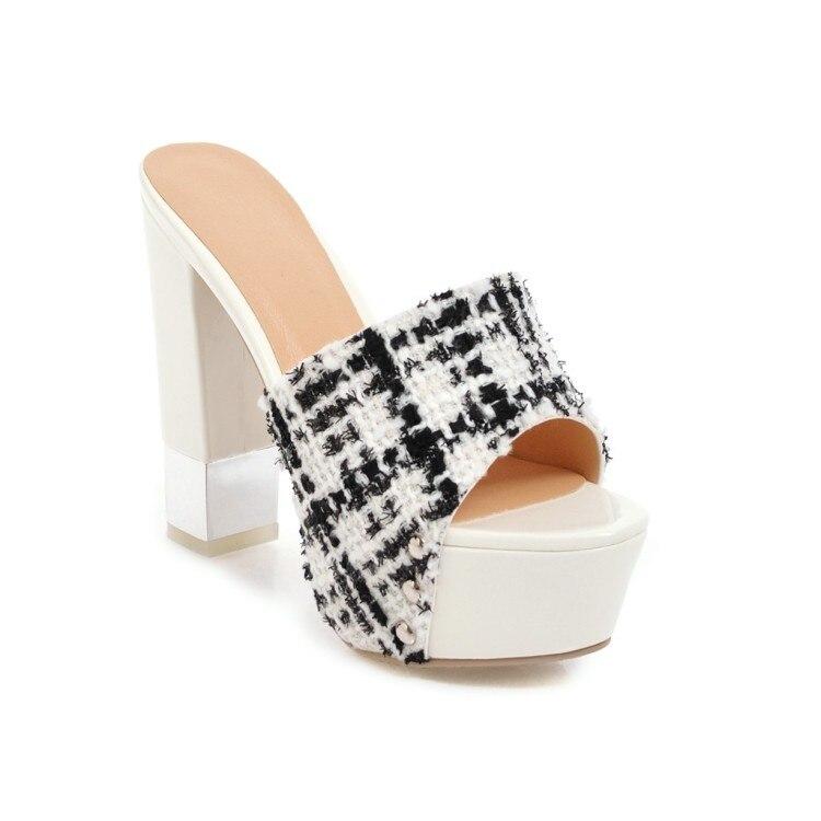 forme noir 2018 Talons blanc Pantoufles Qzyerai La Graisse Plate Européenne Mode Beige Chaussures À Décontracté De D'eau Femmes Nouveau Hauts Style HxRRqZY