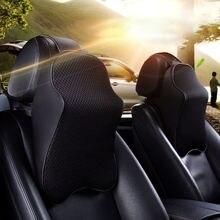 цены Black Car Seat Memory Foam Headrest Pad Polyester Pillow Neck Support Cushion Protective Car Interior Seat Head Rest Pillow