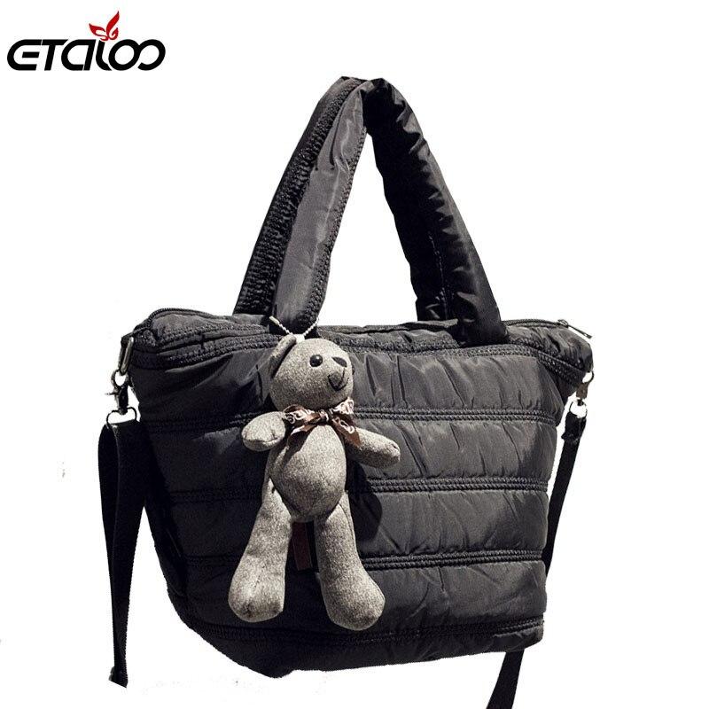 handbags 2017 new retro space bag down jacket bag bag portable shoulder Messenger bag wild pelican wild space 116 146 р р синяя