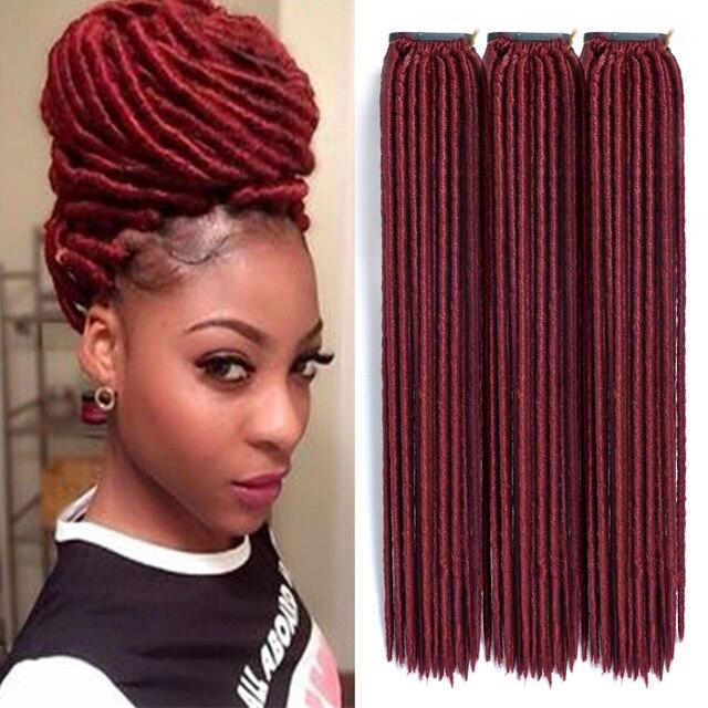 Crochet Synthetic Extension Hair Faux Dread Locks Twist Hair Dreads Dread Beans Hair 24strands Piece