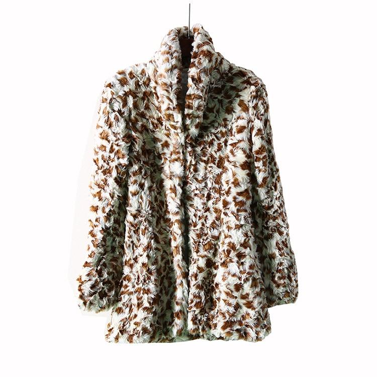 High quality Imitation Rabbit Fur Coat 2018 Winter Leopard ...