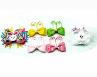 6 Pieces Large Easter Gift Hair Bows Hair Accessories Baby Girls New Design