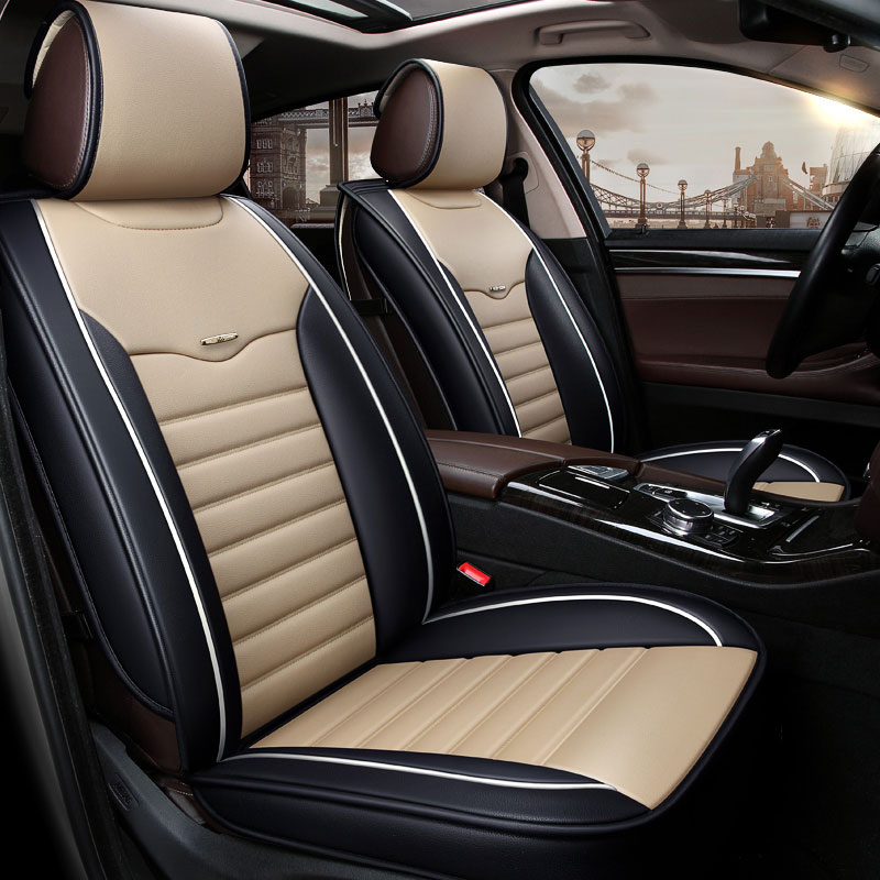 Leather Universal Car Seat Cover Car Cushion Pad For