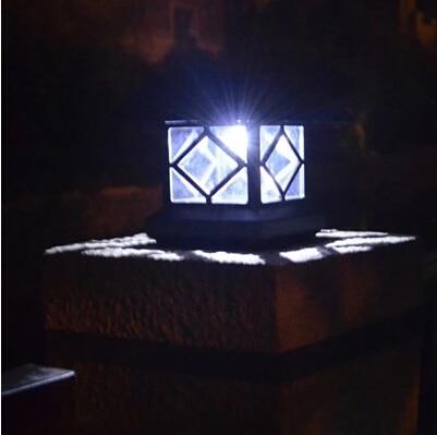 Solar Panel Lamp Energia Solar Lamp Post Column Headlights Fence Lamps Wall  Lamp Headlamp Led Solar Light Outdoor Garden Lights