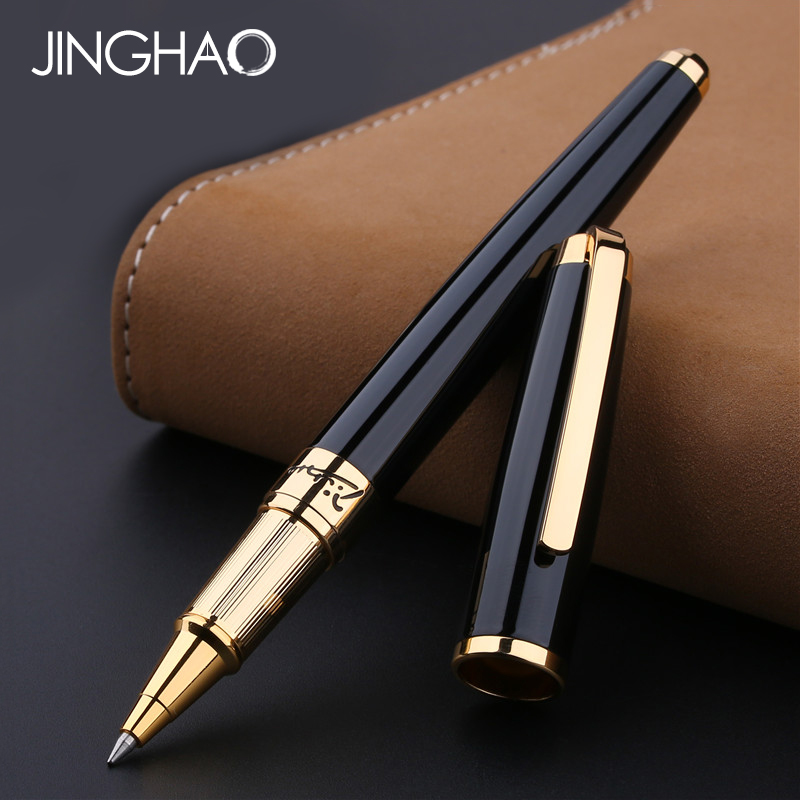 Luxury Gold/Silver Clip Black Rollerball Pen Pimio 918 High-end Business Office Metal Sign Pen Gift Writing Pens with a Gift Box все цены