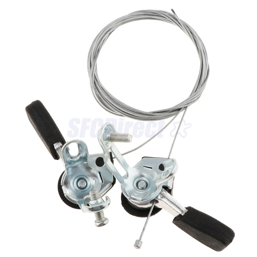 1Pair 3x6//7 Speed MTB Bike Thumb Gear Shifter Top Mount Shifters Aluminium Alloy