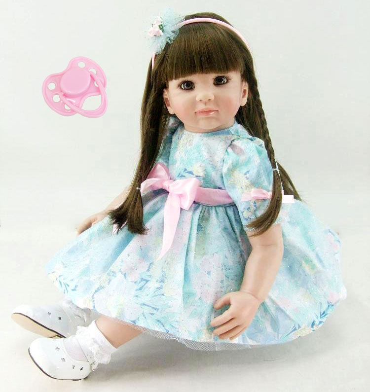 60cm Silicone Reborn Babies Doll Toy Vinyl Princess Toddler Girl Baby Doll Girl Brinquedos Fashion Birthday Gift Play House Toy original awei es q3 headset noise isolation bests sound in ear style hifi earphones for phone mp3 mp4 players 3 5mm jack