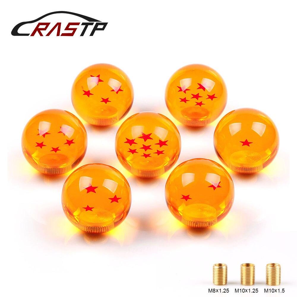 Rastp-chegou novo botão de deslocamento de engrenagem bola de dragão 57mm diâmetro 1-7 estrela acrílico para carro universal RS-SFN042