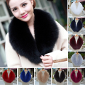 Winter 100% Genuine Real Natural Fox Fur Collar Women Scarf Fashion Coat Sweater Scarves Luxury Ranch Fox Fur Neck Cap