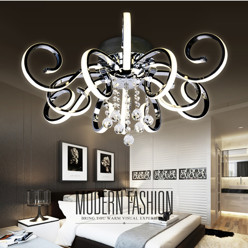 Post-modern simple led ceiling lamp living room lighting atmospheric creative personality crystal art hall master bedroom lights