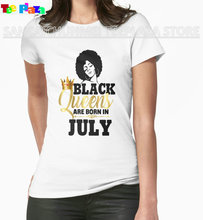 Teeplaza Custom Printed T Shirts O-Neck Comfort Soft Short Sleeve Black Queens Are Born In July Shirts